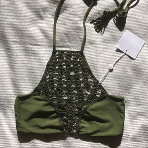 ACACIA Panama Top in Palm, Size S